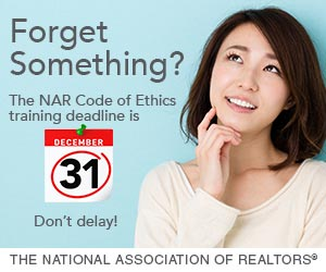 NAR Code of Ethics Training Deadline - December 31st